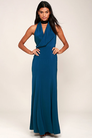 Keepsake Escape Teal Blue Maxi Dress at Lulus.com!