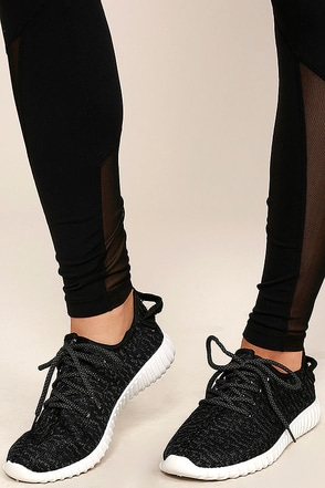 Creative Kick Black Knit Sneakers at Lulus.com!