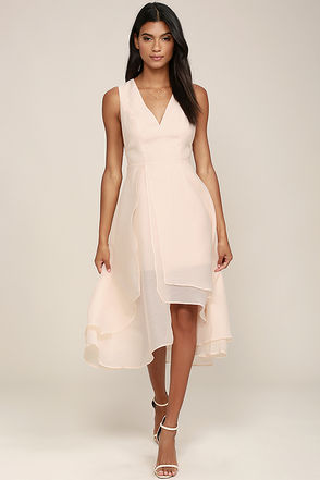 Keepsake All Yours Light Peach Dress at Lulus.com!