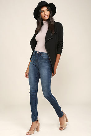 Dittos Kelly Black High-Waisted Skinny Jeans at Lulus.com!
