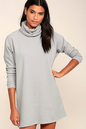 Scheme of Things Grey Long Sleeve Dress 1