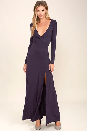 Wishing Well Purple Long Sleeve Maxi Dress at Lulus.com!