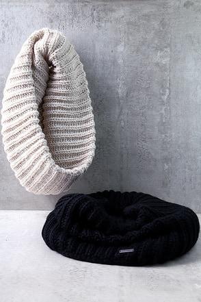 Element Eden Mella Light Beige Knit Infinity Scarf at Lulus.com!