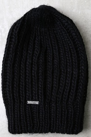 Element Eden Mella Black Knit Beanie at Lulus.com!