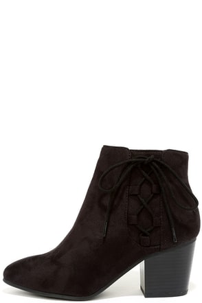 Treat You Right Dark Clay Suede Ankle Booties at Lulus.com!