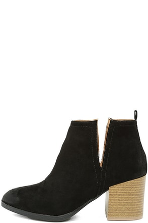 Come Out on Top Black Suede Ankle Booties at Lulus.com!