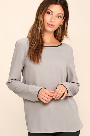 Get the Look Ivory Long Sleeve Top at Lulus.com!