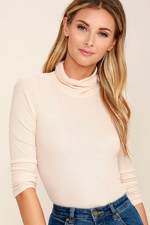Cozy Den Dark Grey Turtleneck Top at Lulus.com!