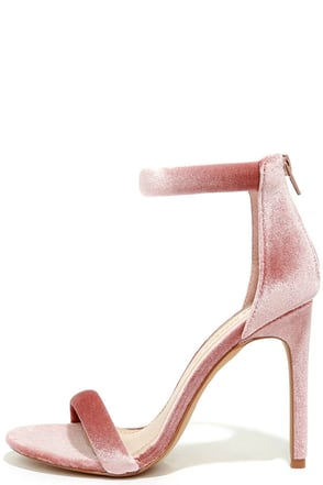Everyday Celebration Mauve Velvet Ankle Strap Heels at Lulus.com!