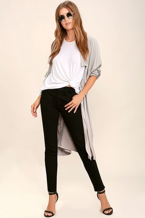 Your Song Black High-Waisted Skinny Jeans at Lulus.com!