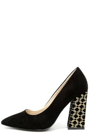 Glamorous Good to Glow Black Suede Pumps at Lulus.com!