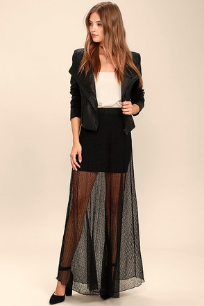 Stevie Moment Black Maxi Skirt at Lulus.com!