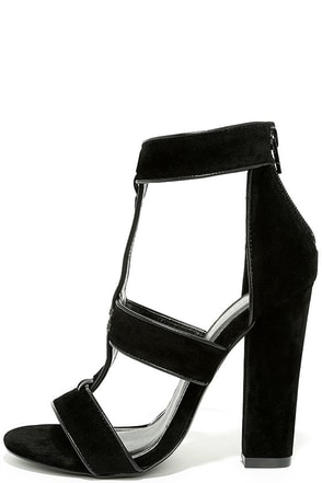 My Love Black Suede Heels at Lulus.com!