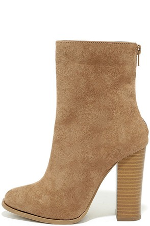 Life's Luxuries Taupe Suede Mid-Calf High Heel Boots at Lulus.com!