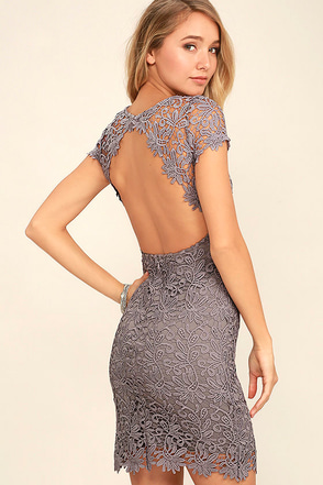 Hidden Talent Backless Sage Green Lace Dress at Lulus.com!