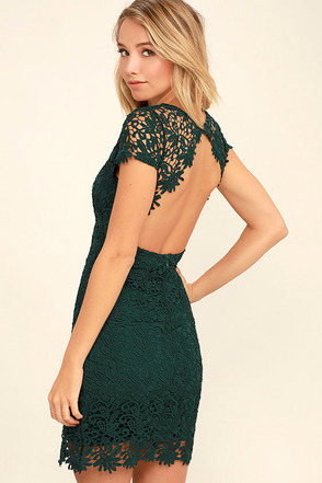 Hidden Talent Backless Burgundy Lace Dress at Lulus.com!