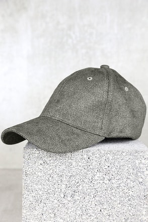 University of Chic Heather Grey Suede Baseball Cap at Lulus.com!
