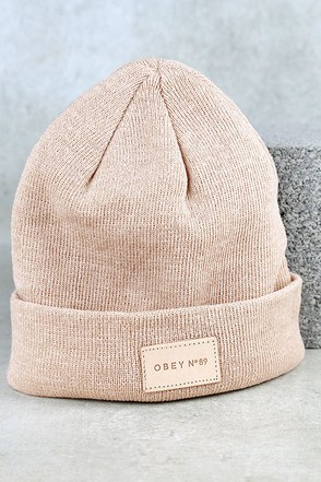 Obey Harlow Blush Beanie at Lulus.com!