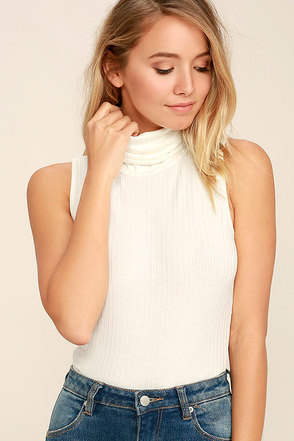 In the Air Ivory Turtleneck Crop Top at Lulus.com!