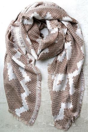 Toboggan Blush Pink Print Scarf at Lulus.com!