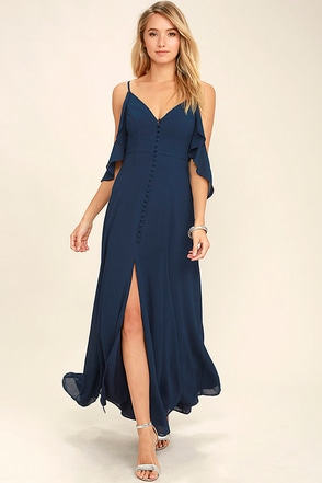 You Found Me Navy Blue Maxi Dress at Lulus.com!