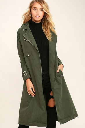 Obey Easy Rider Olive Green Trench Coat at Lulus.com!