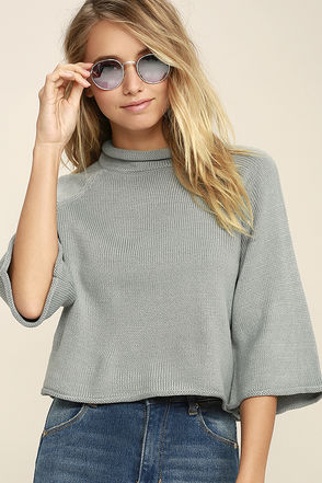 Jack by BB Dakota Claudio Light Grey Cropped Sweater at Lulus.com!