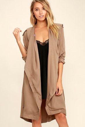 Black Swan Seraphina Taupe Coat at Lulus.com!