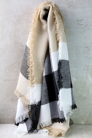 Meet Me at the Coffee Shop Beige Striped Scarf at Lulus.com!