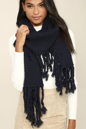 Destination Toasty Dark Green Knit Scarf at Lulus.com!