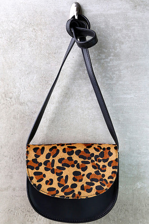 Tomcat Black and Pony Fur Leopard Print Purse at Lulus.com!