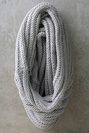 Cuddle Love Light Brown Knit Infinity Scarf at Lulus.com!
