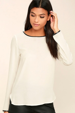 Get the Look Grey Long Sleeve Top at Lulus.com!