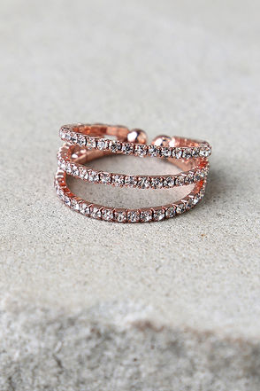 Flair to Spare Gold Rhinestone Ring at Lulus.com!