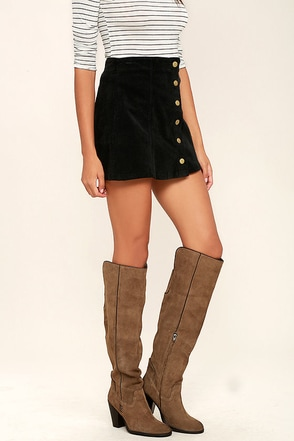 Mia Nigel Taupe Suede Leather Knee High Boots 1