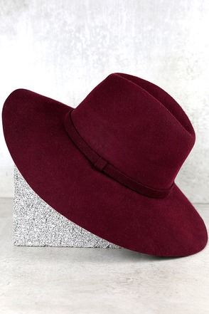 Wishing on a Star Burgundy Fedora Hat at Lulus.com!