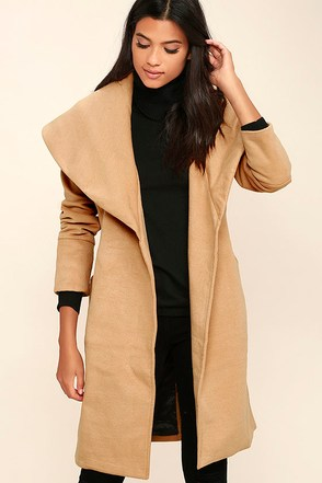 Mink Pink Dawn Til Dusk Beige Coat at Lulus.com!