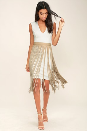 Wind and Where Beige Fringe Belt at Lulus.com!