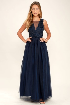 Could Have Danced All Night Navy Blue Maxi Dress at Lulus.com!