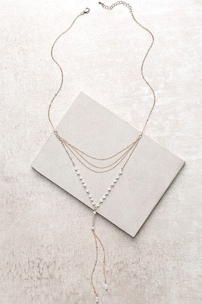 Divine Moment Gold and Iridescent Layered Necklace at Lulus.com!