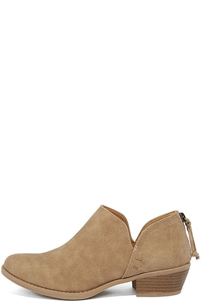 Stands Apart Toffee Nubuck Ankle Booties at Lulus.com!