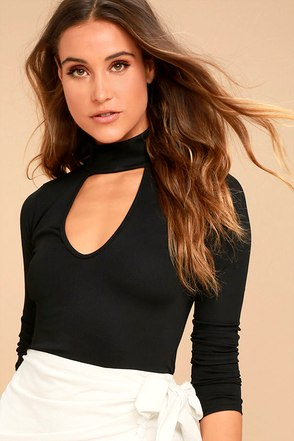 Kiss Me, Miss Me Black Long Sleeve Top 1