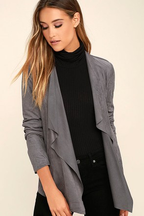 Olive & Oak Valley View Grey Suede Jacket at Lulus.com!