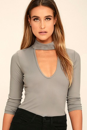 Kiss Me, Miss Me Taupe Long Sleeve Top 1