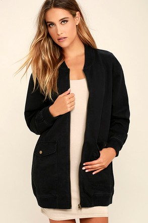 Light Beam Olive Green Oversized Bomber Jacket at Lulus.com!