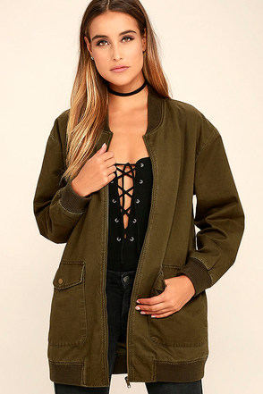 Light Beam Black Oversized Bomber Jacket at Lulus.com!