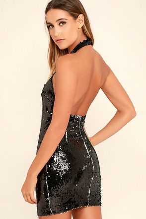 Star Filled Sky Black Sequin Dress at Lulus.com!