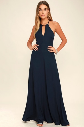 Beauty and Grace Navy Blue Maxi Dress at Lulus.com!