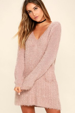 Jack by BB Dakota Aristella Mauve Sweater Dress at Lulus.com!