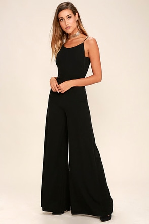All You've Ever Wanted Black Backless Jumpsuit at Lulus.com!